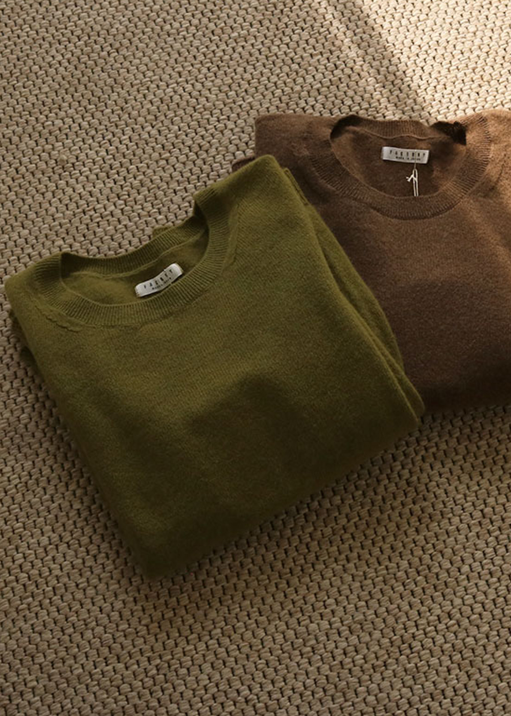 CREW NECK SWEATER - deep green