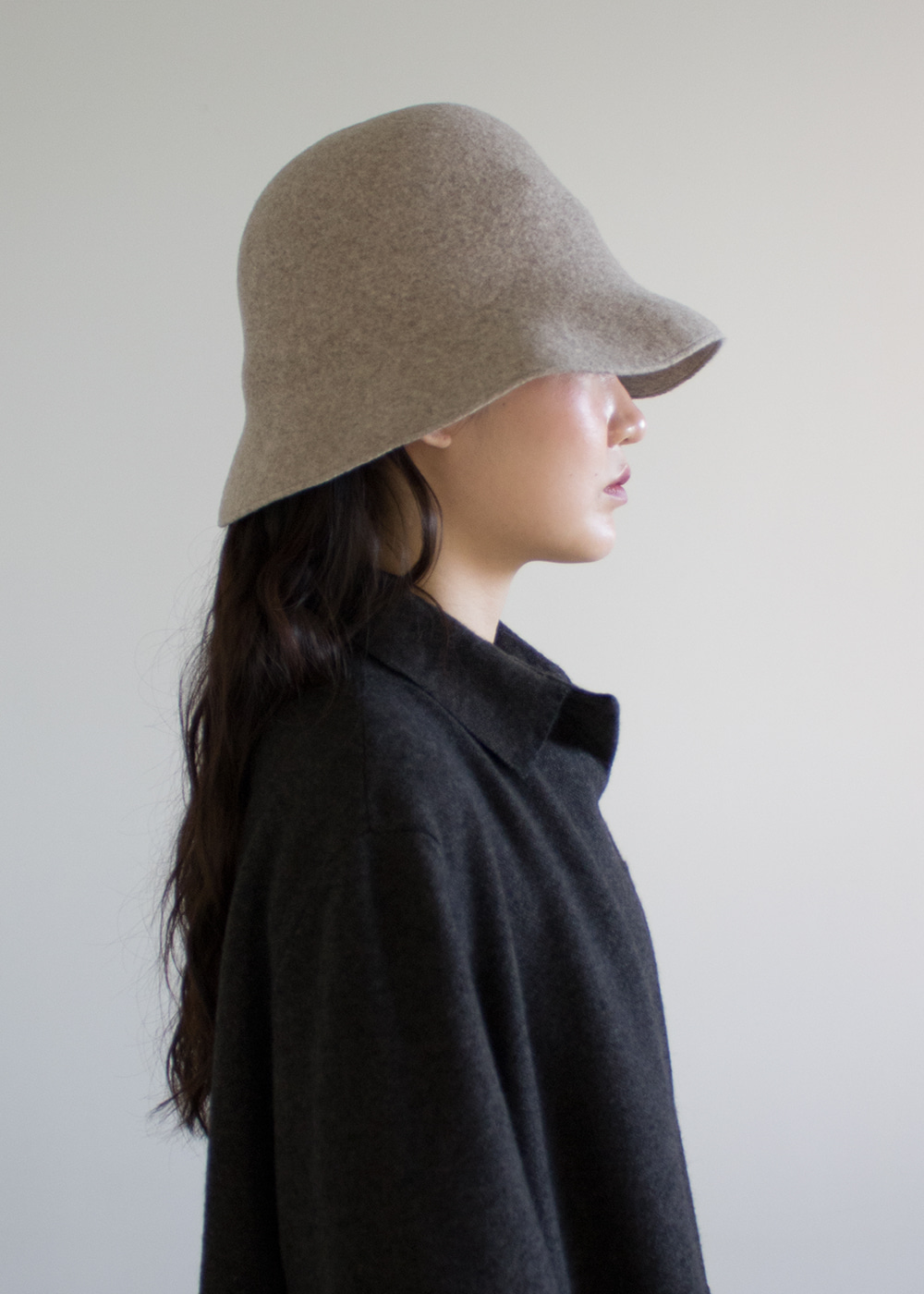 WIDEN BELL HAT LAMB - cork