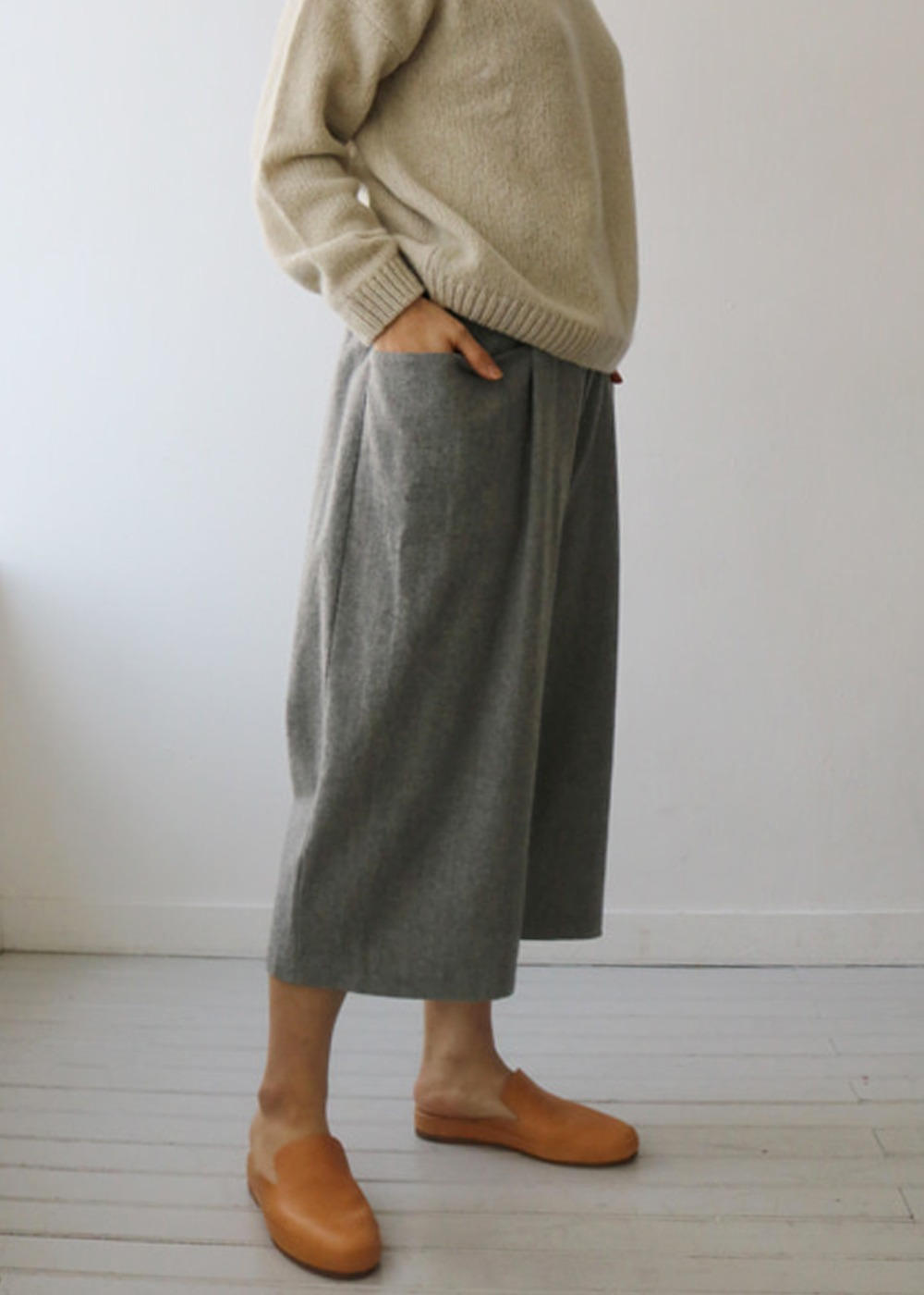 WOOL CASHMERE PANTS